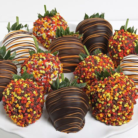 Decorating Idea for Fall Style Strawberries