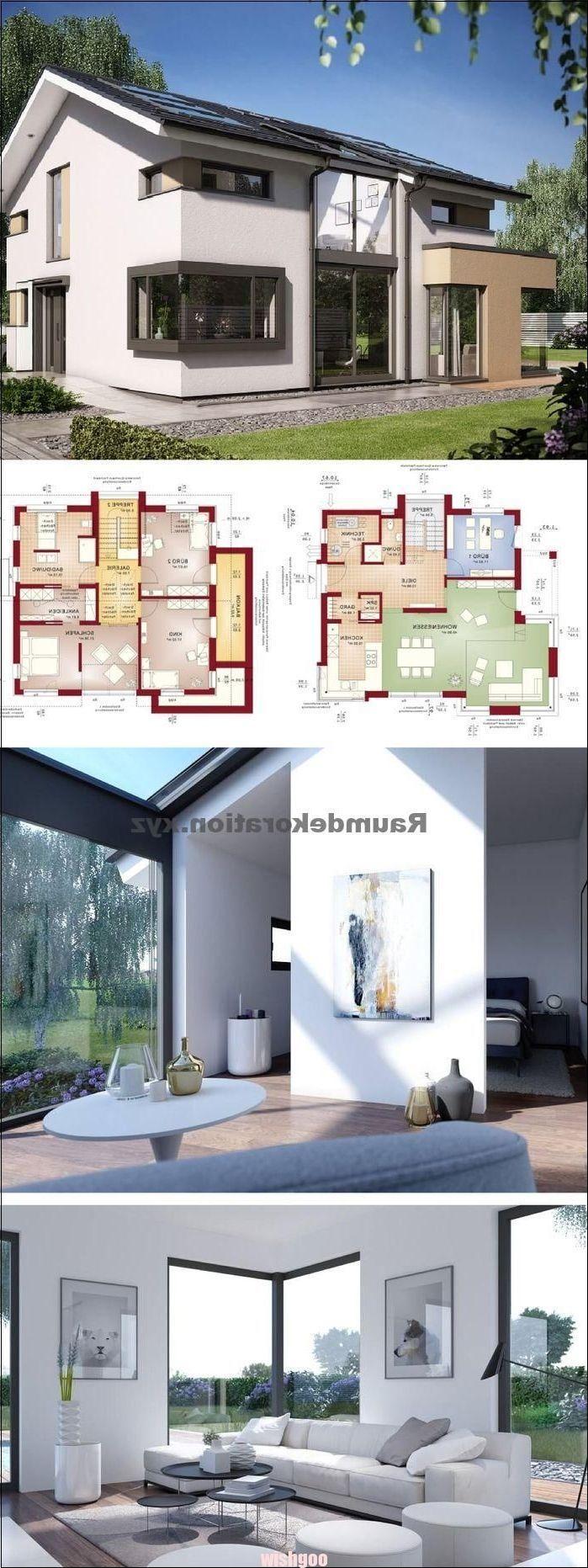 Architekturideen Einfamilienhaus Neubau modern mit