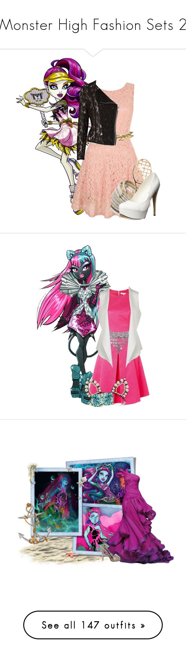 """Monster High Fashion Sets 2"" by bluetidegirl ❤ liked on Polyvore featuring Yumi, Miss Selfridge, Michael Antonio, Marni, River Island, Fenn Wright Manson, Erickson Beamon, Kate Spade, Eileen Fisher and Versace"