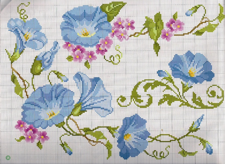 55 best images about crossstitch morning glory on for Schemi punto croce farfalle