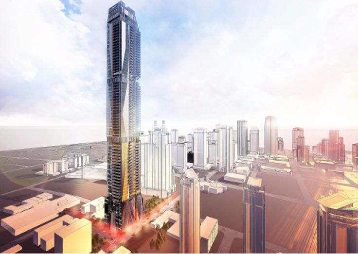 The Edmontonian - if it's completed as proposed the 276 metre-office condo hotel will be a staggering 71 stories and 276 m high!