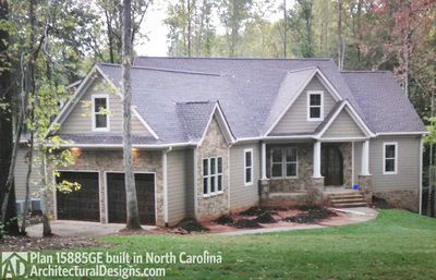 Plan 15885ge affordable gable roofed ranch home plan for Cheap ranch style house plans