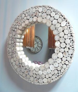 Les 25 meilleures id es de la cat gorie miroir en bois for Miroir rond cadre bois