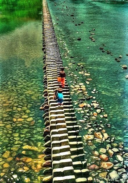 Piano Köprüsü, Shishui Köyü, Taitaishun, Zhejiang, Çin