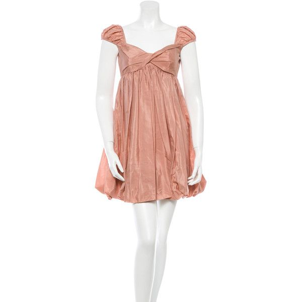 b1b69ead5b480f Pre-owned Karen Walker Silk-Blend Babydoll Dress ( 130) ❤ liked on Polyvore  featuring dresses
