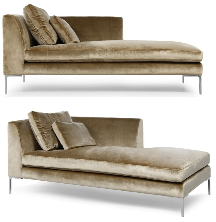 This sleek and sophisticated chaise longue is one of our bestselling models and well suited to modern interior with a clean, minimalist motif. The sumptuous padding is enhanced by foam-wrapped feather and down seat cushions and feather and down back and accent cushions.