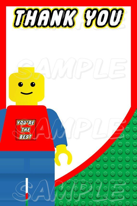 Printable+LEGO+Thank+You+Cards party Pinterest Lego printable