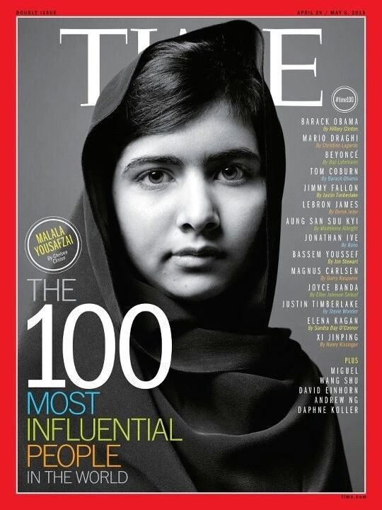 Malala Yousafzai, a 17 year old from the Swat Valley of Pakistan, is an advocate for education. In 2012, she was shot by the Taliban at point blank range while on her way to school. Thankfully she survived the attack, and soon after, a UN petition was launched in her name that demands education for all children around the world. In 2013, she was nominated for the Nobel Peace Prize, making her, at the age of 16, the youngest person to be nominated for the award.
