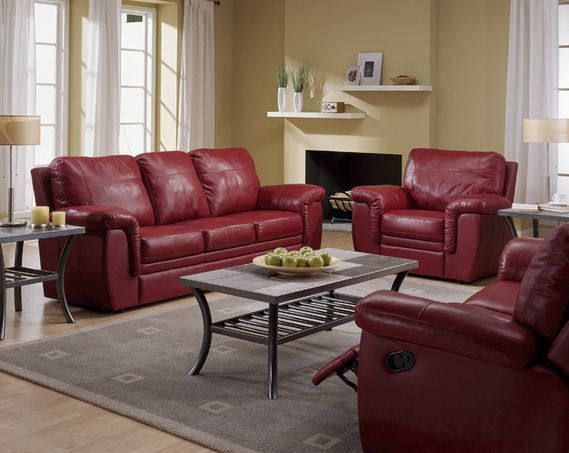 11 best red leather furniture images on pinterest How to position sofas in living room