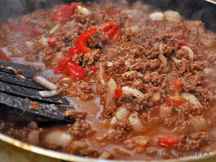 Cooking Cuban picadillo in Hawai'i. So delicious. Make it!