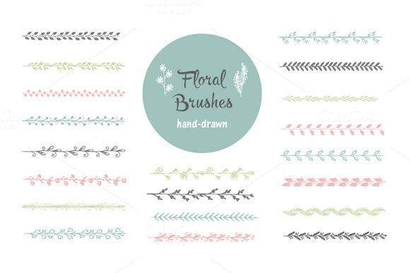 Hand-drawn vector brushes. Borders by Switzergirl on Creative Market
