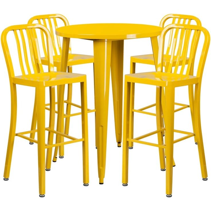 Tiled Kitchen Cart Table Stools