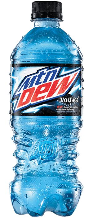 This is my favorite junk food/drink. Its my favorite drink because I love mountain dew and i love blue raspberry flavoring and  mountain dew voltage is both of them combined.