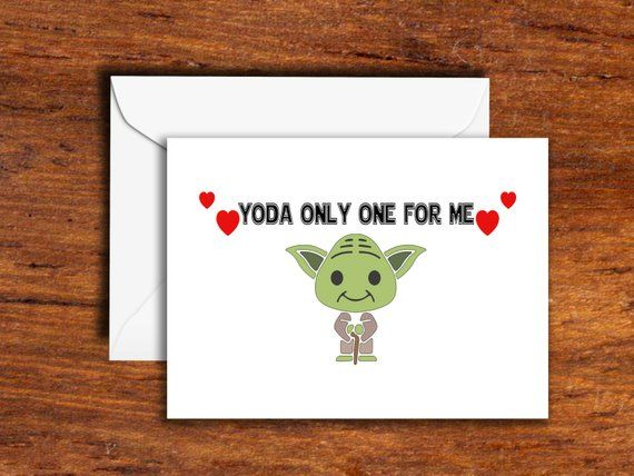 Holidays Valentines Day Yoda Only One For Me Greeting Card