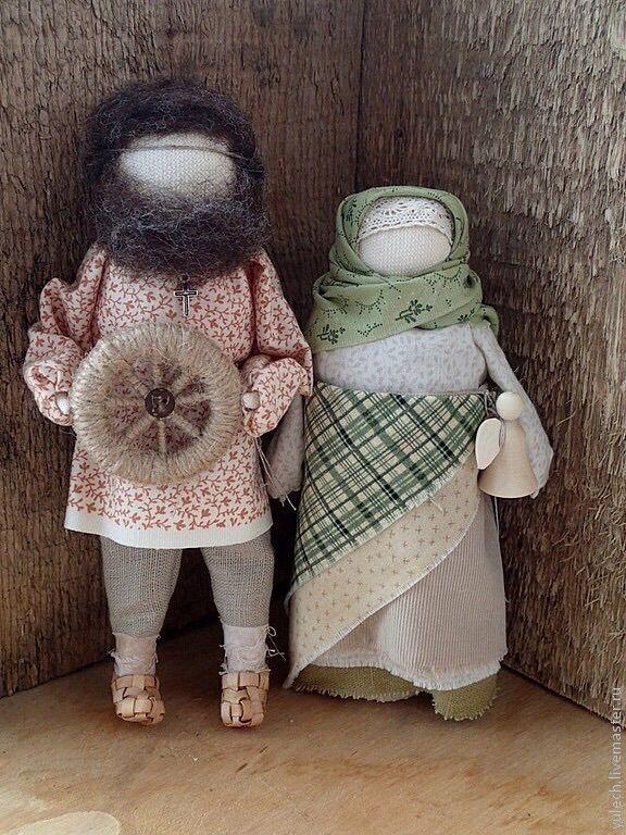 "Купить Куколки "" Семейная идиллия"" - народная кукла, спиридон, спиридон солнцеворот, Спиридон Тримифунтский"