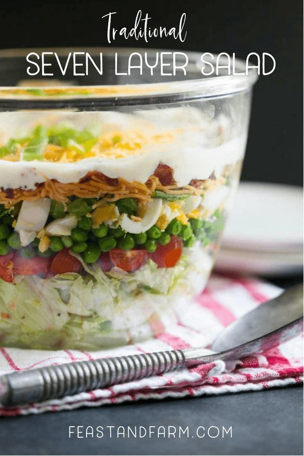 Traditional Seven Layer Salad Recipe Blogger Recipes We Love Seven Layer Salad 7 Layer Salad Salad Recipes