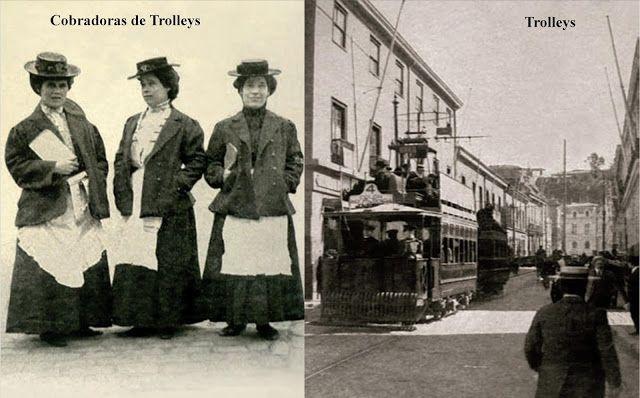 Cobradores de Trolleys Fuente: Imágenes del 1900