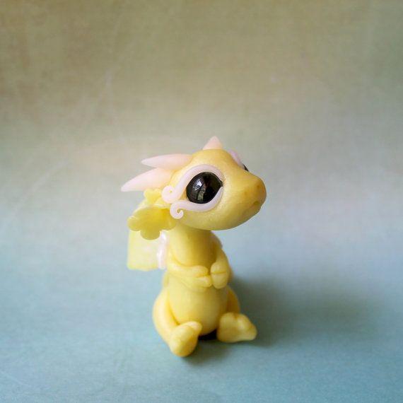 Citrine Bitty Baby Dragon by BittyBiteyOnes on Etsy