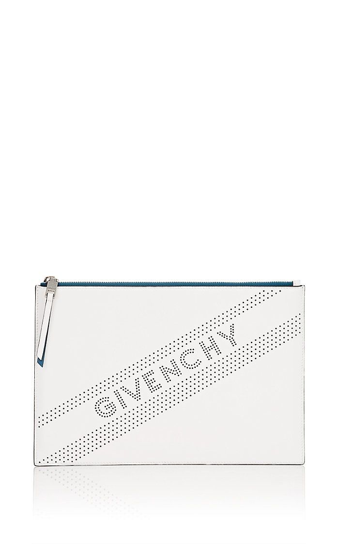 Givenchy Emblem Medium Leather Zip Pouch en 2018  5c8b5a20f50d6