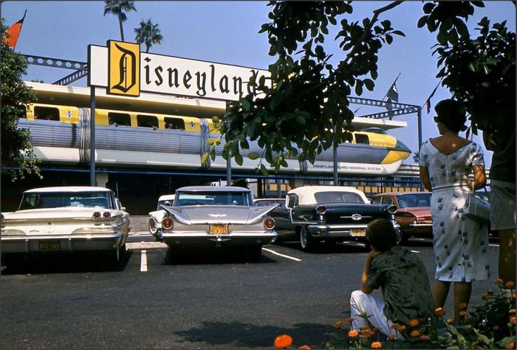 Disneyland Entrance, Anaheim California 1960s