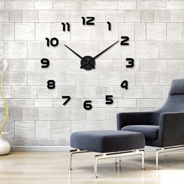 2017 New Home Decoration Wall Clock Big Mirror Wall Clock Modern Design Large Size Wall Clocks Diy Wall Sticker Unique Gift Relogios De Sala Relogios De Parede Faca Voce Mesmo Paredes Sala