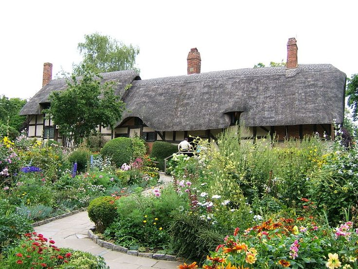 Anne Hathaway's Cottage is a twelve-roomed farmhouse where the wife of William Shakespeare lived as a child in the village of Shottery, Warwickshire, England, about 1 mile (1.6 km) west of Stratford-upon-Avon. Spacious, and with several bedrooms, it is now set in extensive gardens.
