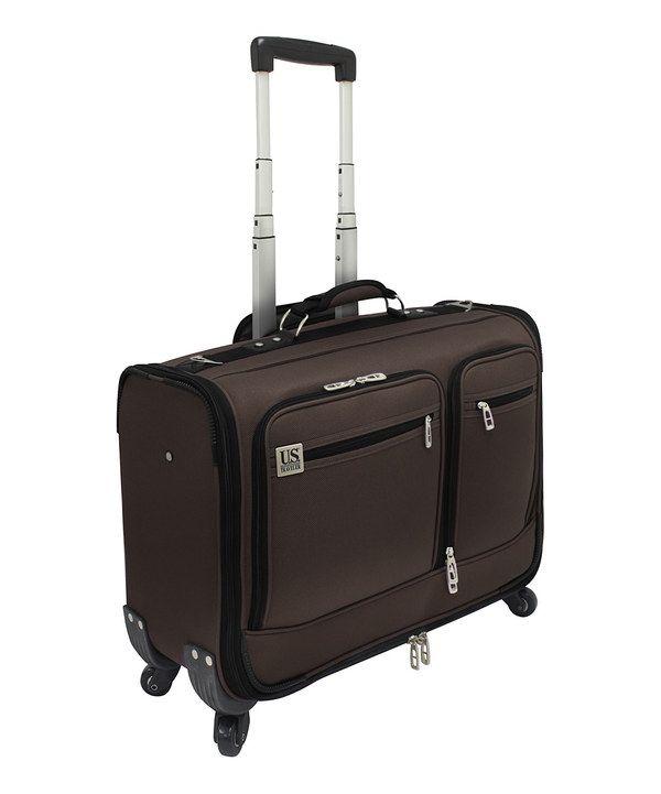Look at this #zulilyfind! Brown US Traveler 22 Wheeled Garment Bag Carry-On by Travelers Choice Travelware #zulilyfinds