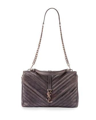 ysl yves - Yves Saint Laurent Monogram College Large Chain Satchel Bag ...