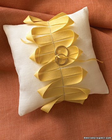 DIY Ring Barrer Pillow with your favorite ribbon