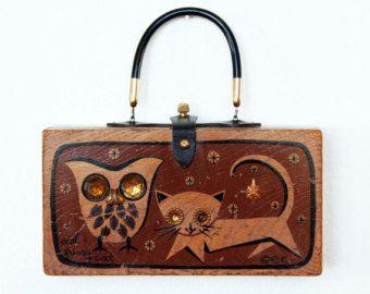 "Enid Collins of Texas ""Owl & Pussycat"" Box Bag"