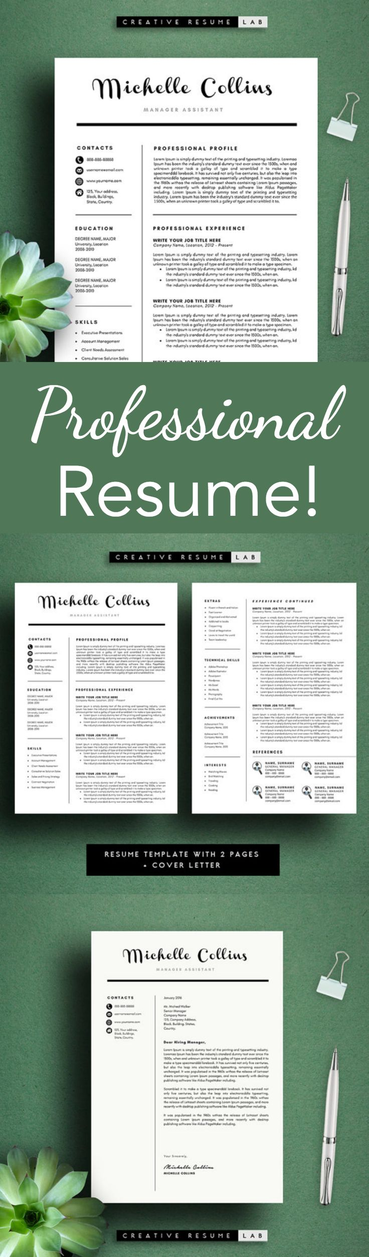 cover letter for sales manager position%0A Love this template for a resume  Looks so professional   ad Michelle Modern  Resume