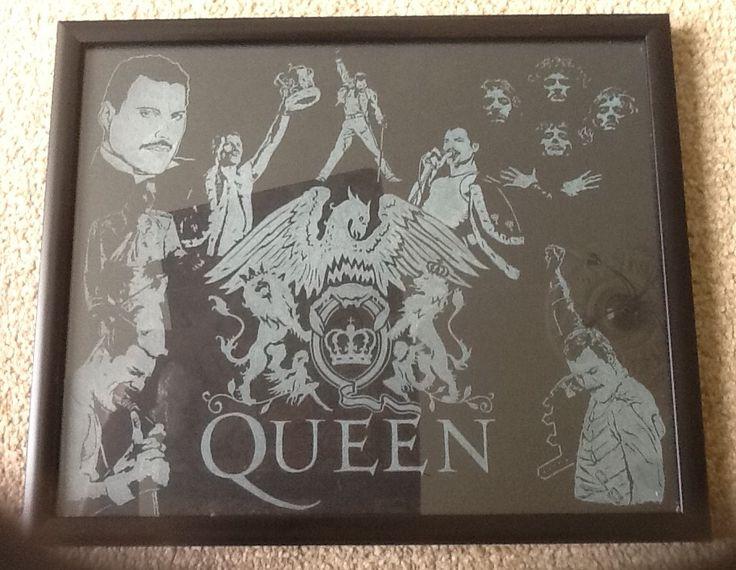 Queen hand engraved #queen #freddiemercury