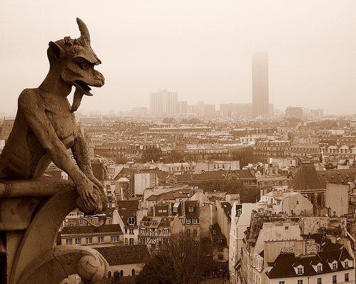 Notre Dame Cathedral Gargoyles Chimera gargoyle, notr...