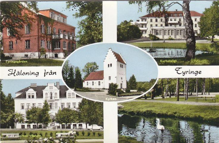 Hälsning från Tyringe. på Tradera.com - Vykort och bilder från Skåne |