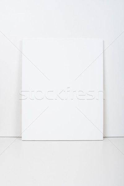 Empty blank white canvas  stock photo (c) manera (#7236705) | Stockfresh