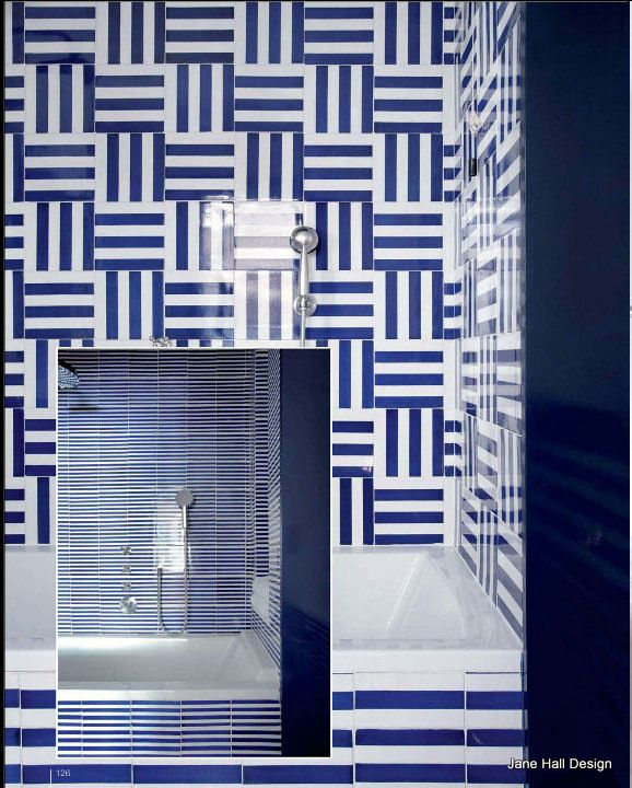 Indigo Blue and White tiles featured in Cote Sud French decorating magazine