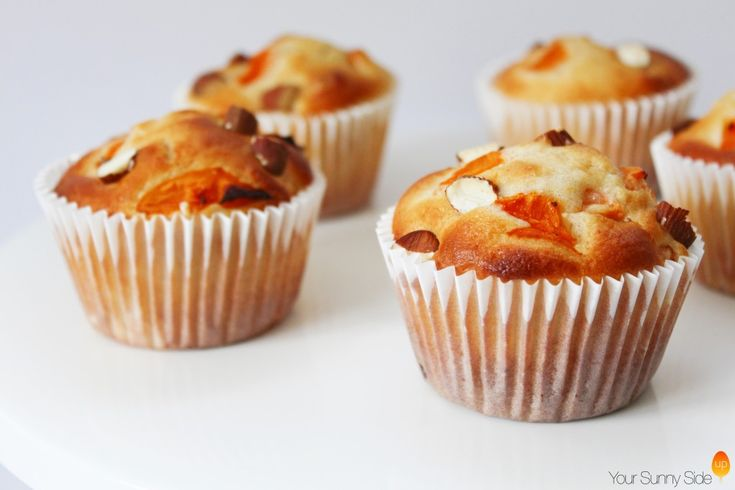 Almond & Apricot Muffins - Your Sunny Side Up (www.yoursunnysideup.com)