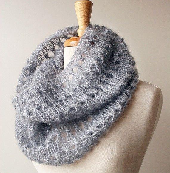 #knit mohair cowl