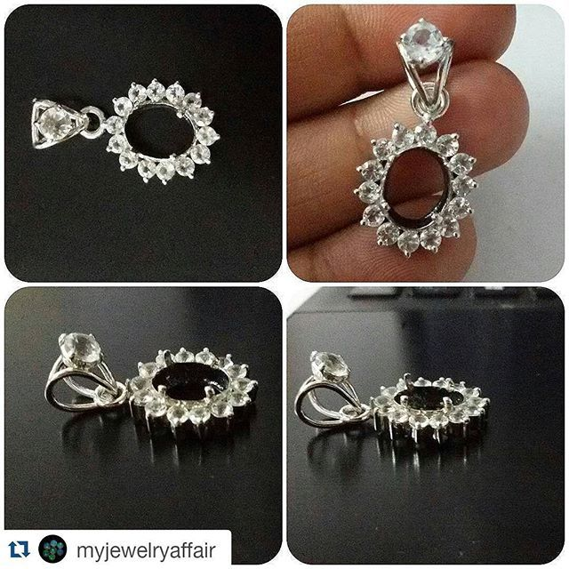 #Repost @myjewelryaffair with @repostapp  Custom work under progress....Something Flashy Coming up......Can someone guess the center gemstone ?  #sterlingsilvernecklace #silverjewelry #whitetopaz #whitetopazpendant #customizedjewelry #handcraftedjewelry #finejewelry #flashylifestyle #pendant #mineral #gemcollector #like4like #likeforlike #20like #picoftheday #instaluxe #myjewelryaffair