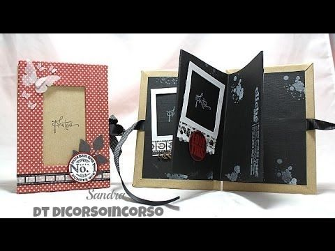 ▶ Scrapbooking mini album laurea tutorial-idea regalo-Portafoto fai da te-Cartonaggio tutorial - YouTube