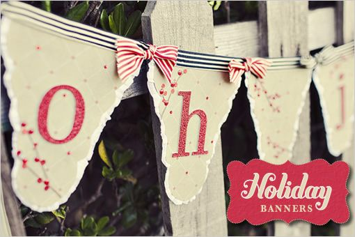 DIY, Do It Yourself, Holiday Banners, Holiday, Banner
