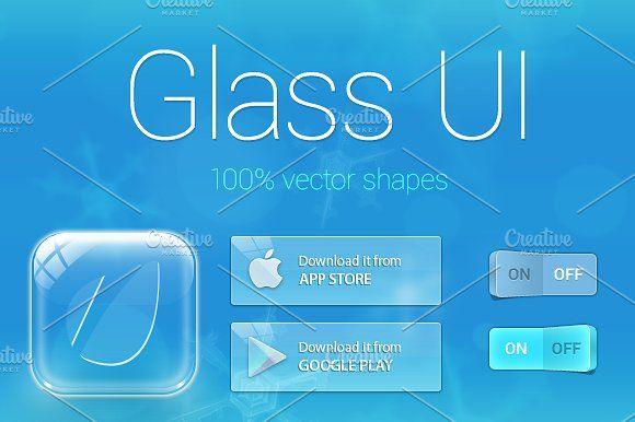 Glass UI Kit by Vương Thành Chung on @creativemarket