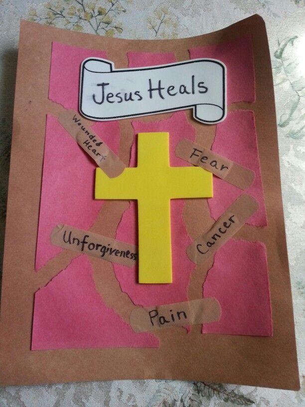 25 b sta jesus heals craft id erna p pinterest for Jesus heals paralyzed man craft
