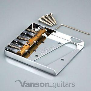 a nueva wilkinson cromado wtb cenicero puente para telecaster guitarras con monturas de bronce
