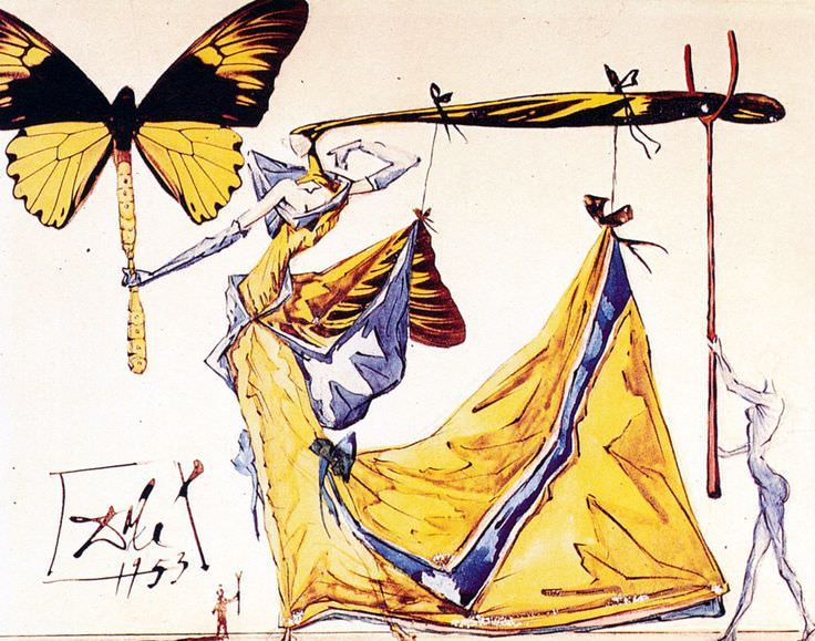 Design for the Costume for the Woman of the Future, 1953 by Salvador Dali