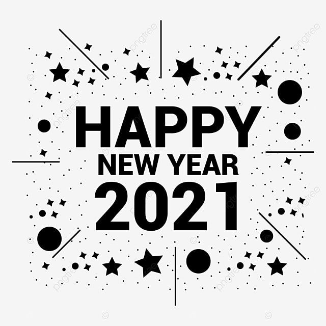 Happy New Year 2021 Png Background Vector Design Vector And Png Happy New Year Text Happy New Year Movie Happy New Year Logo