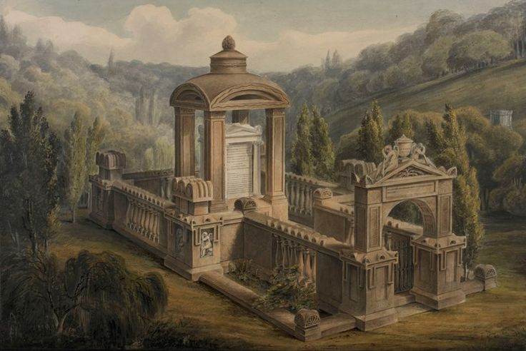 Death and Memory: Soane and the Architecture of Legacy  George Basevi, Bird's-eye view of the Soane Family Tomb (1816)