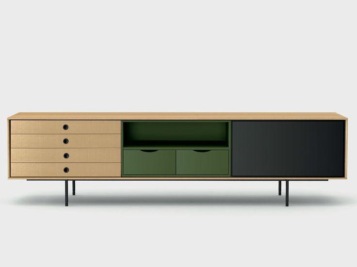 Contemporary style wooden sideboard AURA C8-2 by TREKU design Angel Martí, Enrique Delamo