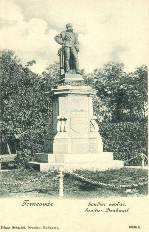 Temesvár:báróScudier Antal szobra.1899