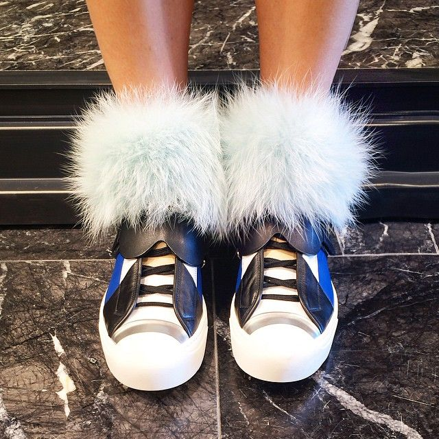 Shop the @fendi #Karlito collection now at BG! Not taking off these Monster sneakers...